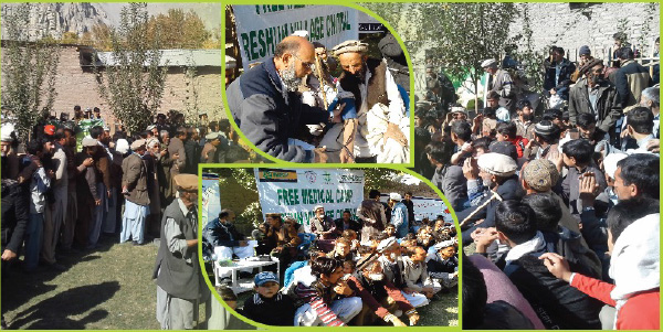 Quilt Distribution in Resham Village Chitral to counter impact
